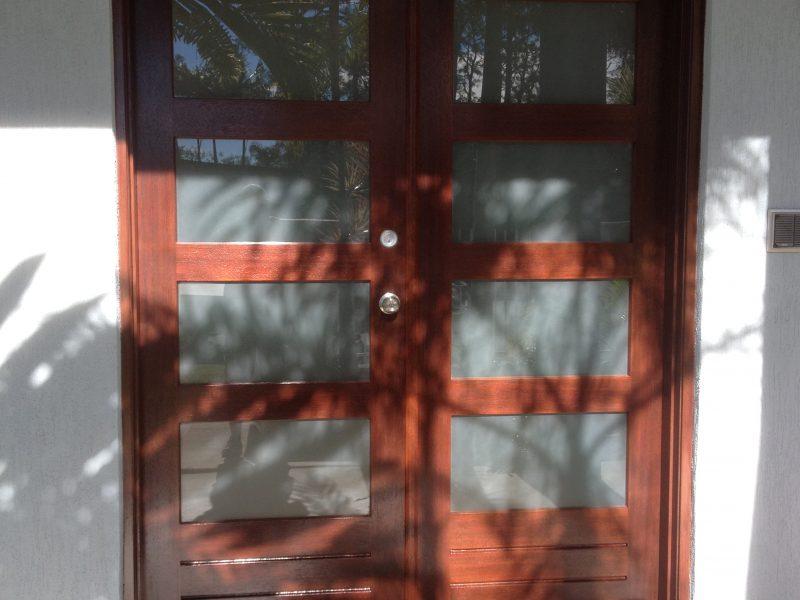 Installed door 2